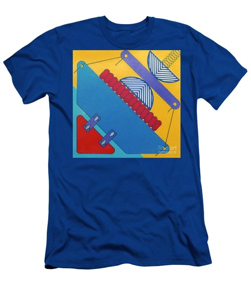 Men's T-Shirt (Athletic Fit) featuring the drawing Rfb1026 Diagonal by Robert F Battles