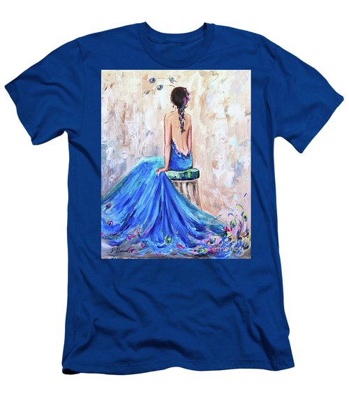 Rhapsody In Blue Men's T-Shirt (Slim Fit) by Jennifer Beaudet