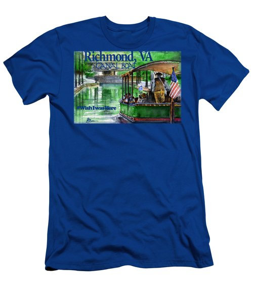 Richmond Va Canal Boat Men's T-Shirt (Athletic Fit)