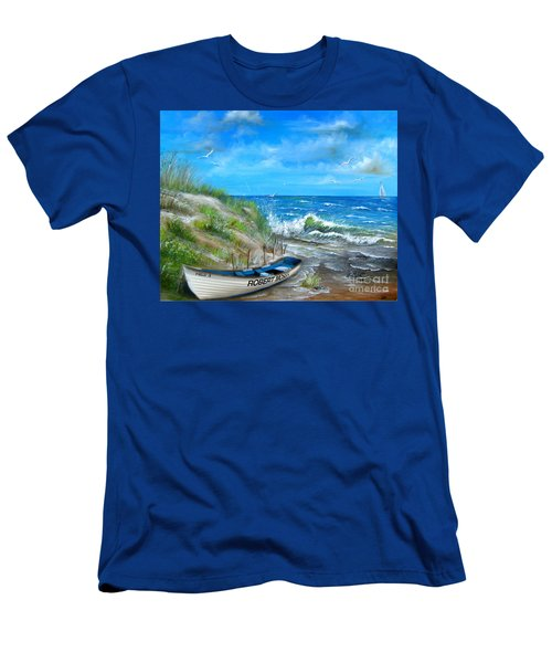 Robert Moses Beach Men's T-Shirt (Athletic Fit)