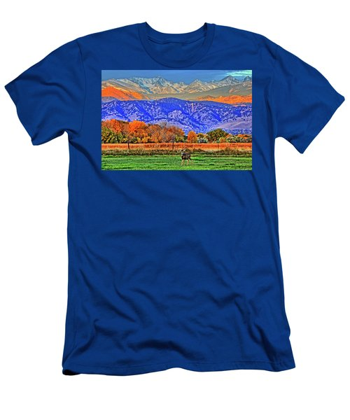 Men's T-Shirt (Slim Fit) featuring the photograph Rocky Mountain Deer by Scott Mahon