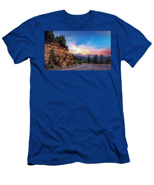 Rocky Mountain High Road Men's T-Shirt (Athletic Fit)