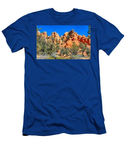 Men's T-Shirt (Athletic Fit) featuring the photograph Rocky Range At Red Canyon by John M Bailey