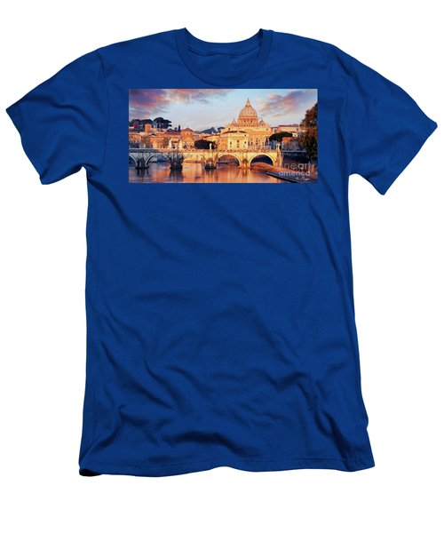Rome The Eternal City - Saint Peter From The Tiber Men's T-Shirt (Athletic Fit)