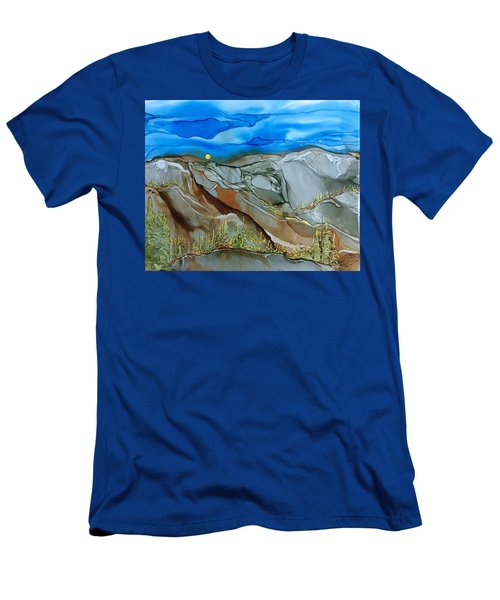 Men's T-Shirt (Slim Fit) featuring the painting Rugged by Pat Purdy