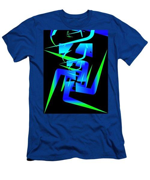 Running Man Men's T-Shirt (Slim Fit) by Mario Carini