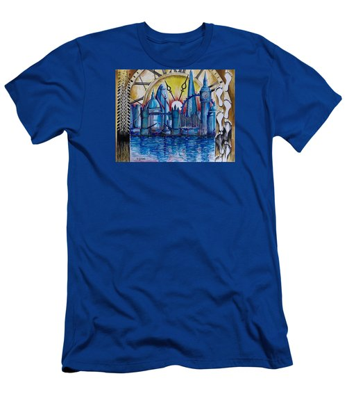 Rush Hour In London Men's T-Shirt (Slim Fit) by Geni Gorani