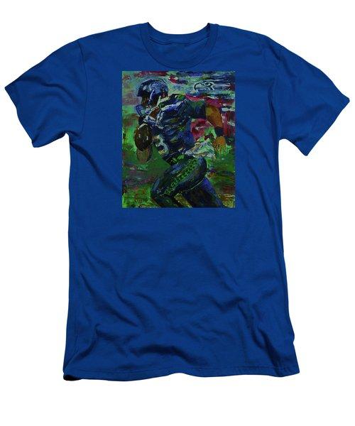 Russell Wilson - Seahawks Football Men's T-Shirt (Slim Fit) by Walter Fahmy