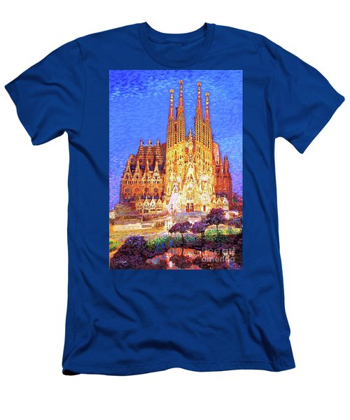 Sagrada Familia At Night Men's T-Shirt (Athletic Fit)