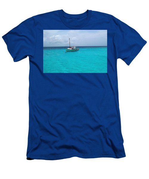 Sailboat Drifting In The Caribbean Azure Sea Men's T-Shirt (Athletic Fit)