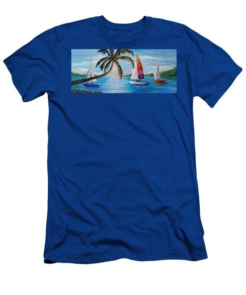 Sailing At Sunset Men's T-Shirt (Athletic Fit)