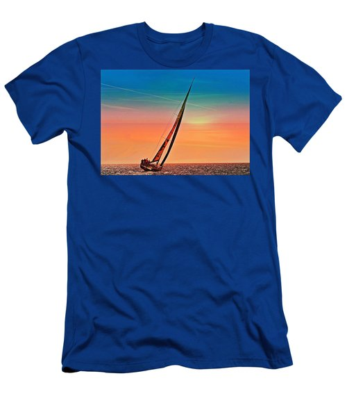Sailing Boat Nautical 3 Men's T-Shirt (Athletic Fit)