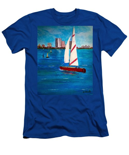 Sailing On The Charles Men's T-Shirt (Athletic Fit)