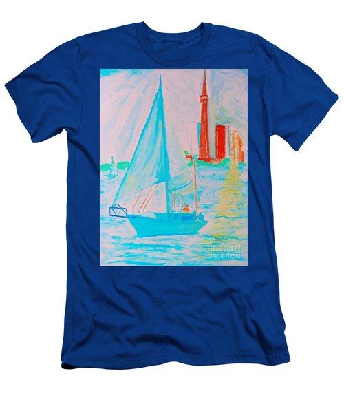 Sailing Toronto, Canada Men's T-Shirt (Athletic Fit)