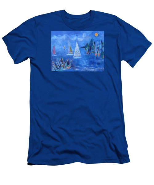 Sails And Sun Men's T-Shirt (Slim Fit) by Betty Pieper