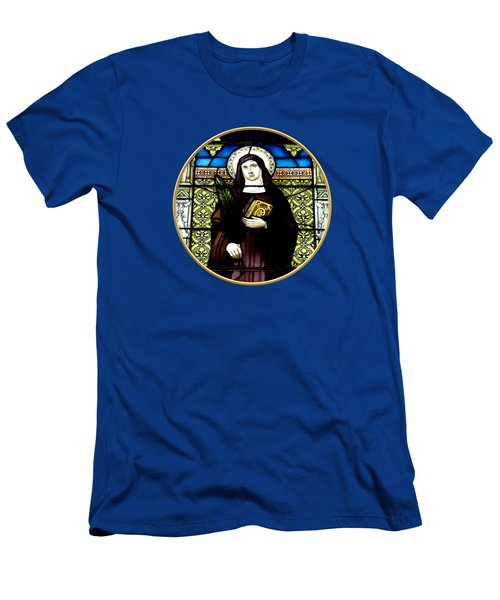 Saint Amelia Stained Glass Window In The Round Men's T-Shirt (Athletic Fit)