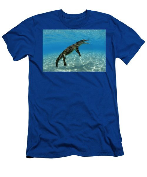 Saltwater Crocodile Men's T-Shirt (Slim Fit) by Franco Banfi and Photo Researchers