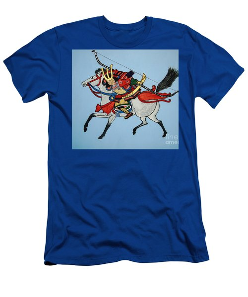 Men's T-Shirt (Slim Fit) featuring the painting Samurai Rider by Stephanie Moore