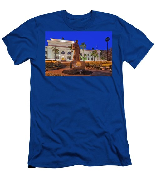 Men's T-Shirt (Slim Fit) featuring the photograph San Buenaventura City Hall by Susan Candelario
