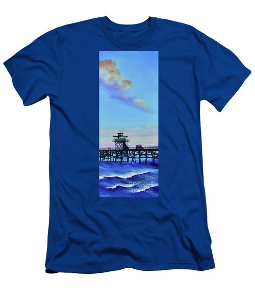 Men's T-Shirt (Athletic Fit) featuring the painting San Clemente High Surf by Mary Scott
