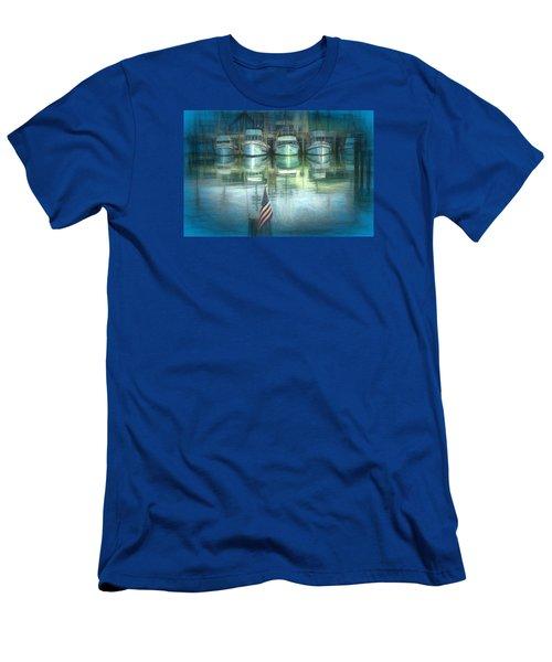 San Francisco Pier Men's T-Shirt (Slim Fit) by Michael Cleere