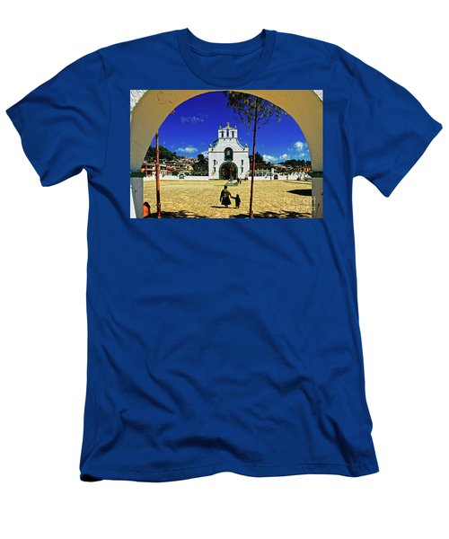Men's T-Shirt (Athletic Fit) featuring the photograph San Juan Chamula Church In Chiapas, Mexico by Sam Antonio Photography