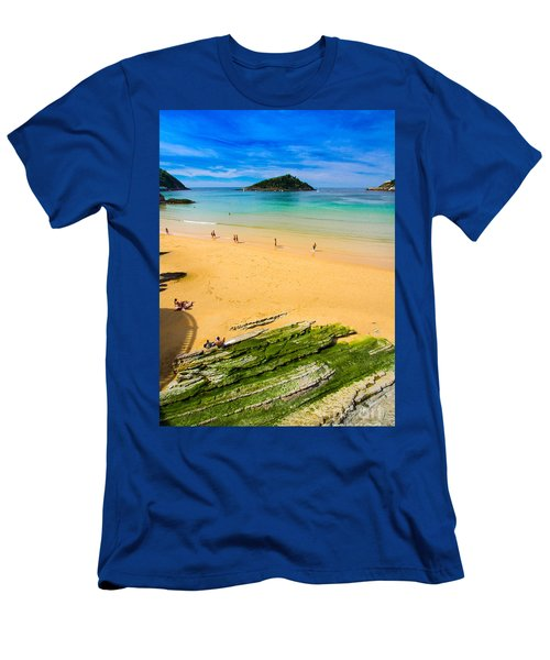 San Sebastian Summer Men's T-Shirt (Slim Fit) by Mariusz Czajkowski