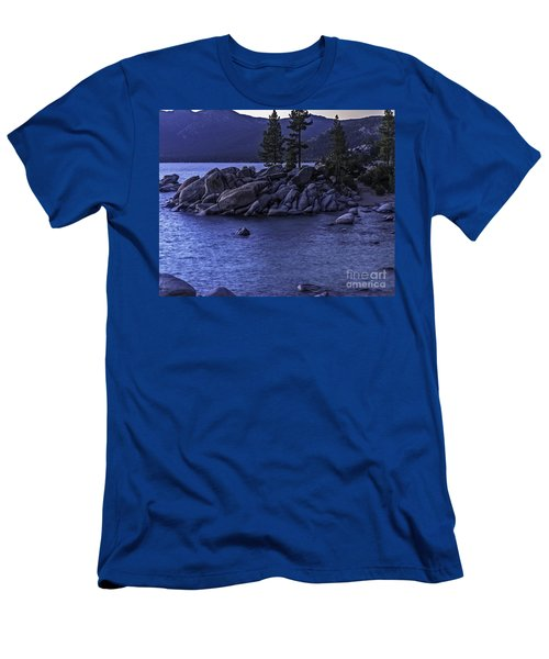 Sand Harbor South Men's T-Shirt (Slim Fit) by Nancy Marie Ricketts