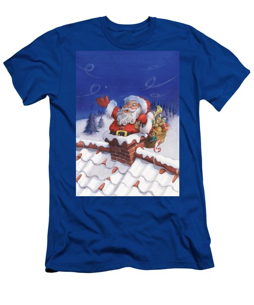 Santa Chimney Men's T-Shirt (Athletic Fit)