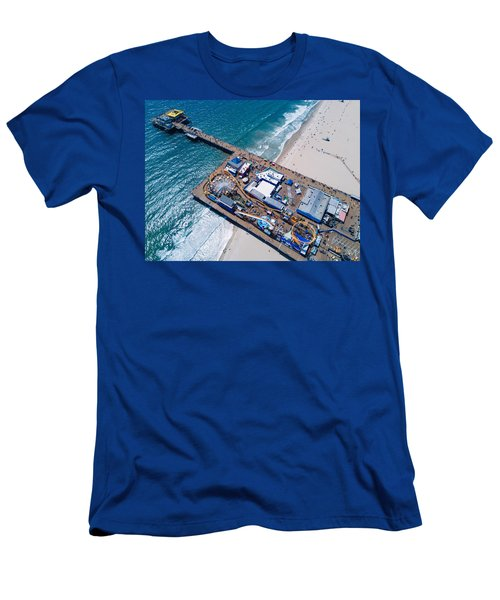 Santa Monica Pier From Above Side Men's T-Shirt (Athletic Fit)