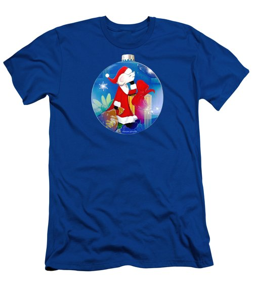 Santa Mouse Child's Shirt Men's T-Shirt (Athletic Fit)