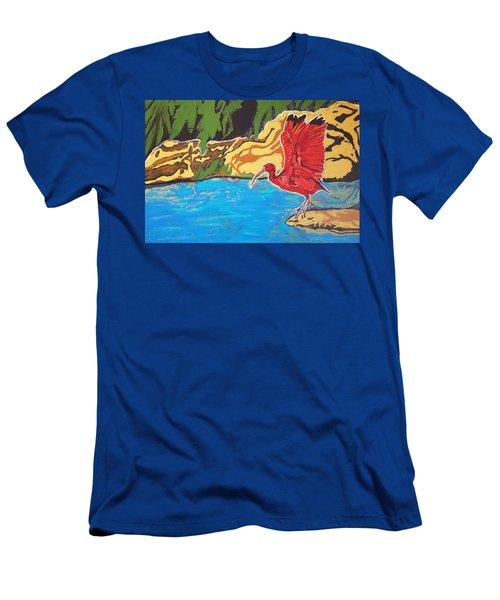 Scarlet Ibis Men's T-Shirt (Athletic Fit)