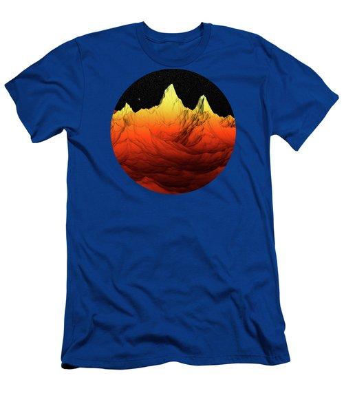 Sci Fi Mountains Landscape Men's T-Shirt (Athletic Fit)