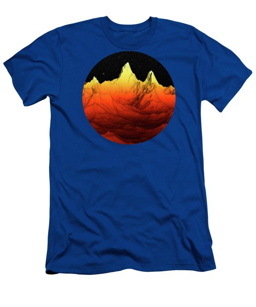 Sci Fi Mountains Landscape Men's T-Shirt (Athletic Fit)