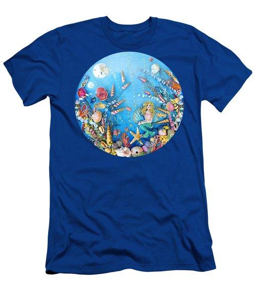 Sculpted Mermaid Sea World Men's T-Shirt (Athletic Fit)