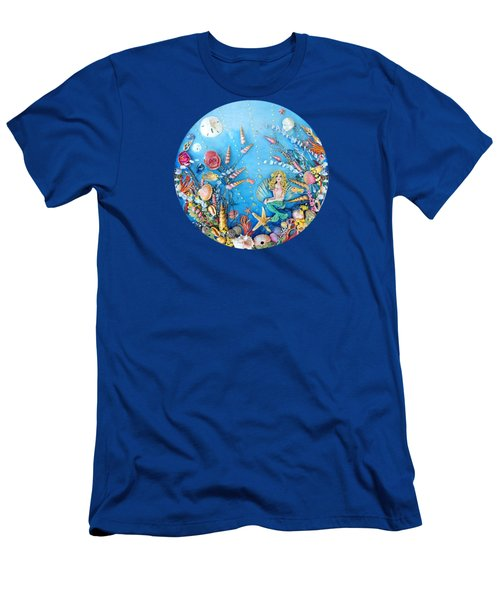 Sculpted Mermaid Sea World Men's T-Shirt (Athletic Fit)