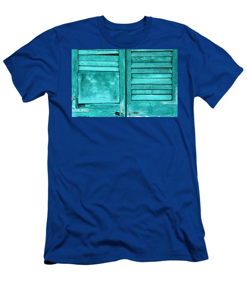 Sea Foam Shutters Men's T-Shirt (Athletic Fit)