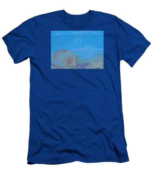 Men's T-Shirt (Slim Fit) featuring the drawing Sea Shore by Kim Sy Ok