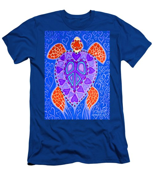 Sea Turtle Hearts 2 Men's T-Shirt (Slim Fit)