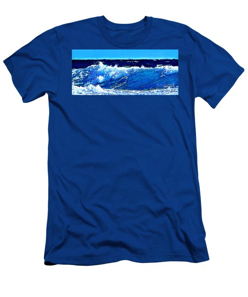 Sea Men's T-Shirt (Slim Fit) by Zedi
