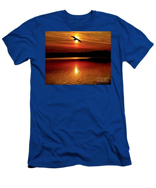 Seagull Homeward Bound Men's T-Shirt (Slim Fit) by Carol F Austin