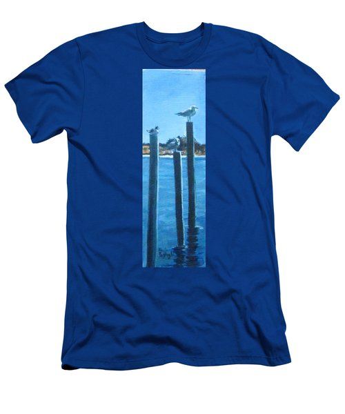Seagull On A Stick Men's T-Shirt (Athletic Fit)