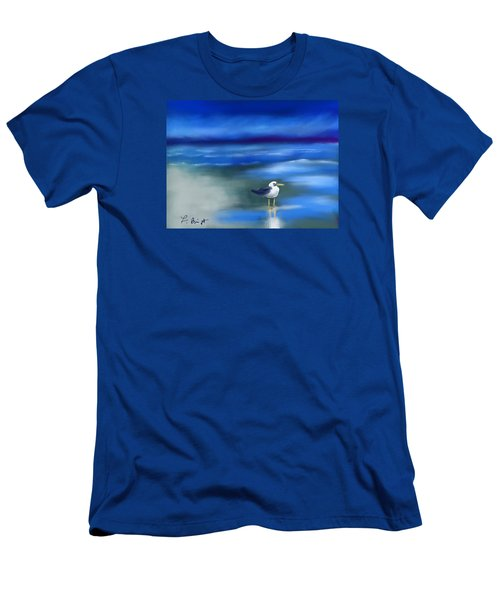 Seagull Standing 2 Men's T-Shirt (Slim Fit) by Frank Bright