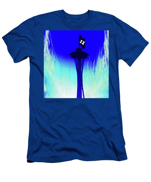 Seahawks Sunset At The Space Needle Men's T-Shirt (Athletic Fit)