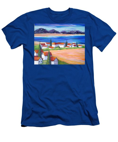 Seaside Village Men's T-Shirt (Athletic Fit)