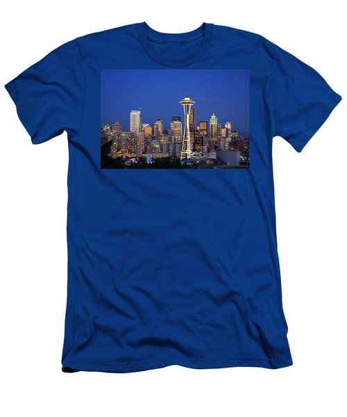Seattle At Dusk Men's T-Shirt (Athletic Fit)