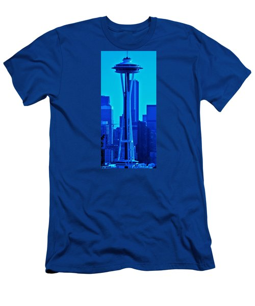 Seattle Blue Men's T-Shirt (Slim Fit) by Martin Cline