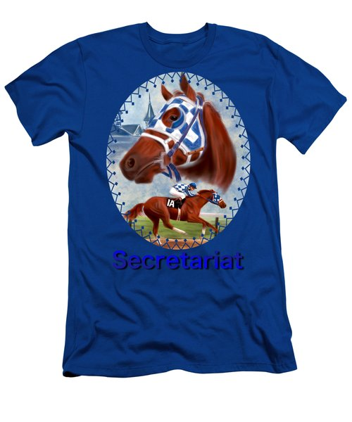 Secretariat Racehorse Portrait Men's T-Shirt (Athletic Fit)