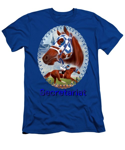 Secretariat Racehorse Portrait Men's T-Shirt (Athletic Fit)