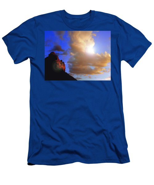 Sedona Mountain Cloud Sun Men's T-Shirt (Athletic Fit)